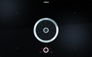 BORA surface induction glass ceramic cooktop with integrated cooktop extractor – exhaust air